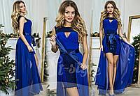 Платье вечернее нарядное в пол с шифоном