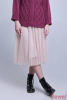 Легкая летняя юбка из фатина