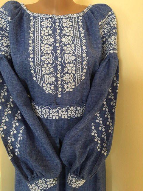 Вишите плаття хрестиком довге на габардині  продажа b029001a371c4