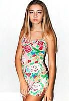 Женская пижама, комплект: шортики и маечка на бретелях. Материал вискоза. В розницу и оптом в Украине.