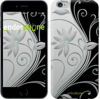 """Чехол на iPhone 7 Plus Цветы на чёрно-белом фоне """"840c-337"""""""