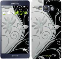"""Чехол на Samsung Galaxy A7 A700H Цветы на чёрно-белом фоне """"840u-117"""""""