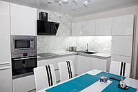 """Кухня """"Белый глянец"""" из крашенного МДФ"""