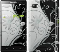 """Чехол на Lenovo K5 Plus Цветы на чёрно-белом фоне """"840c-278"""""""