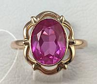 Кольцо с аметистом золотое 583 пробы,СССР