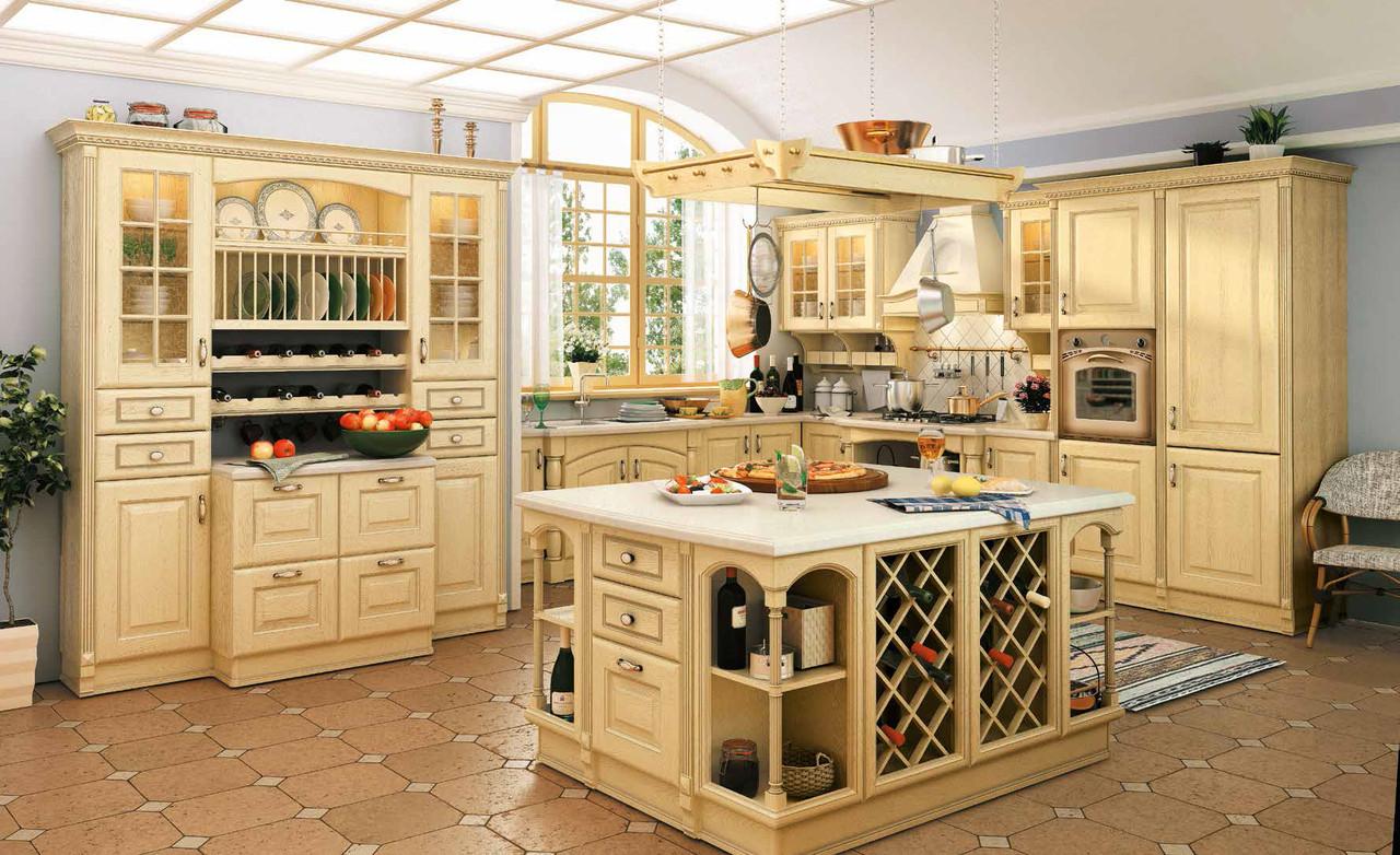 """Кухня """"Венеция светлая"""" из массива"""