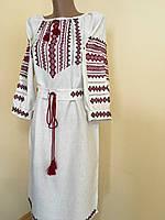Сукня вишиванка з орнаментом вишита крестиком та мережкою