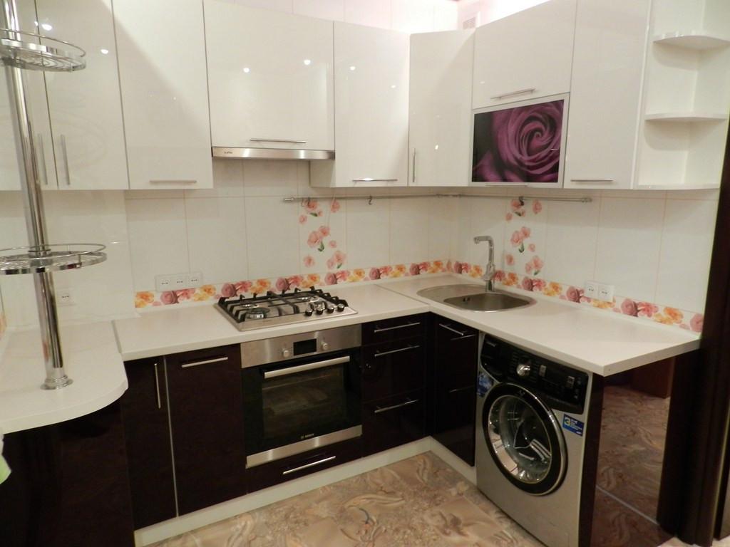 фото кухни баклажан с белым