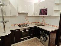 """Кухня """"Белый Баклажан"""" из пленочного МДФ, фото 1"""