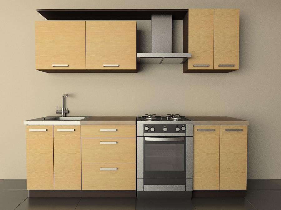 Кухня Типовая 2.0м из пленочного МДФ