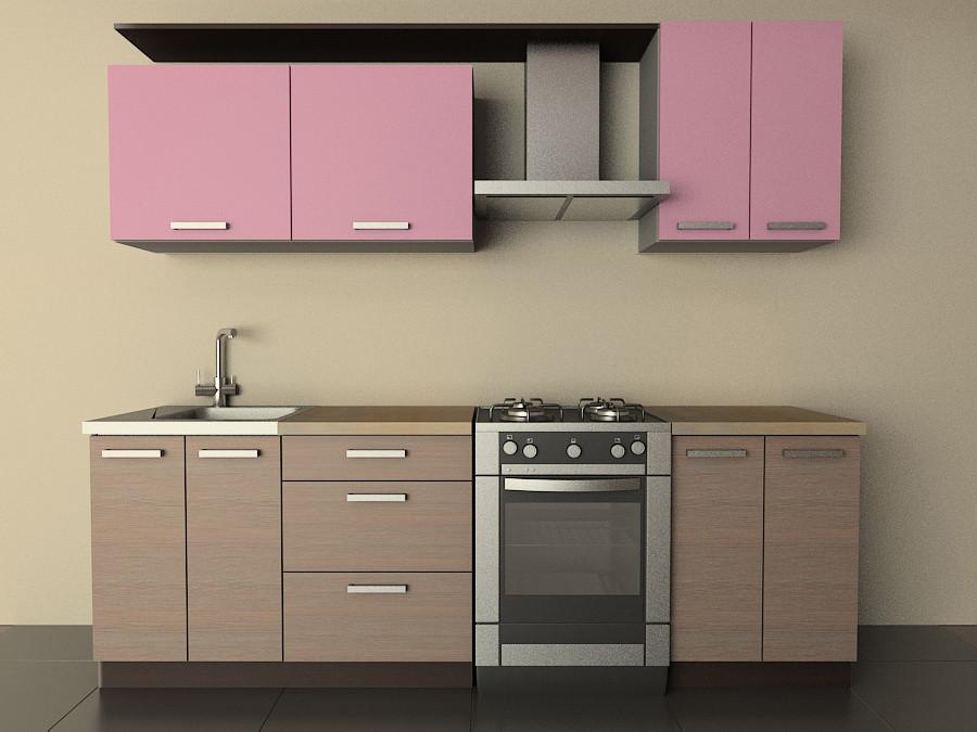 Кухня Типовая 1.8м из пленочного МДФ
