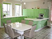Кухня Модерн Салатовый металлик из пленочного МДФ, фото 1