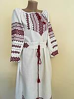 Сукня вишиванка з орнаментом вишита крестиком та мережкою, фото 1