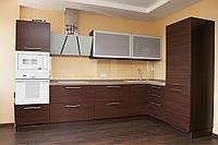 Кухня Венге из пленочного МДФ, фото 1