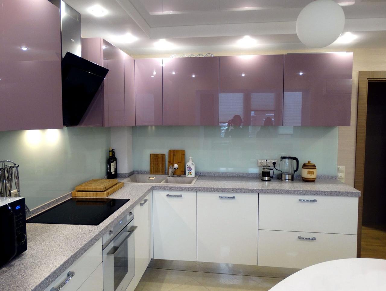 Кухня Лаванда-Белый из акрила