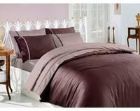 Комплект постельного белья First Choice Kahve Vizon сатин 220-200 см коричневый, фото 1