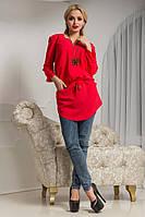 Женская блуза с карманами Демми