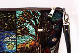 Женская джинсовая стеганная сумочка времена года, фото 3