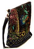 Женская джинсовая стеганная сумочка времена года, фото 2