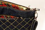 Женская джинсовая стеганная сумочка времена года, фото 5