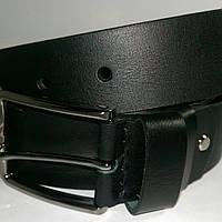Ремень кожаный Катана чёрный гладкий 4см.