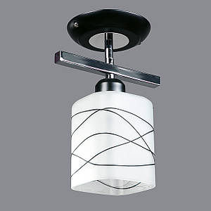 Припотолочная люстра на одну лампочку P3-2640/1AC/CR+BK+BK