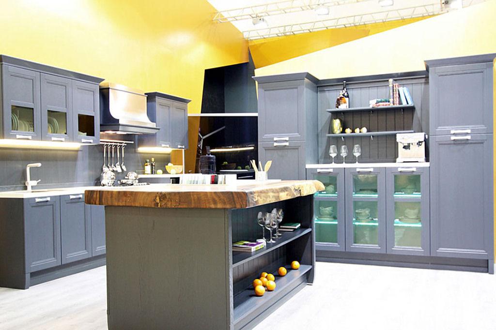 Кухня Манчестер Серый Жемчуг из массива