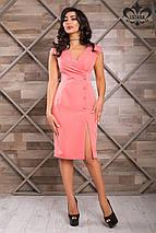 Женское приталенное платье с разрезом на ноге (Ева lzn), фото 3