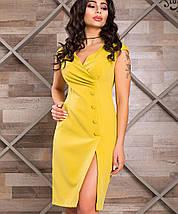 Женское приталенное платье с разрезом на ноге (Ева lzn), фото 2