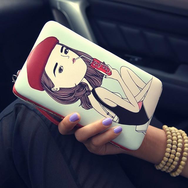 Стильный женский кошелек-клатч