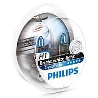 Автолампа Philips H1 Cristal Vision 12V 55W P14,5s 12258CVB1