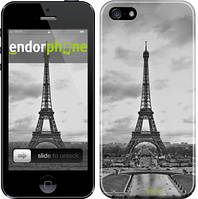 "Чехол на iPhone SE Чёрно-белая Эйфелева башня ""842c-214"""