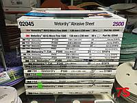 3M™ 01982 Wetordry Tri-M-Ite - Водостійкий абразивний папір серії 734, карбід кремнію, 230 х 280 мм, P150