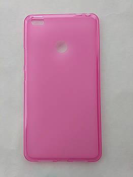 Силиконовый чехол Xiaomi Mi Max розовый матовый