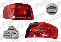Фонарь задний левый 3дв Audi A3 8P 2008-2011