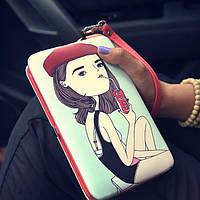 Женский кошелек с ручкой