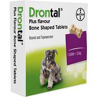 Дронтал плюс(Drontal plus) со вкусом мяса, для собак, 1 таблетка ( Bayer )