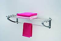 Полка в ванную для полотенец 50 см серого цвета