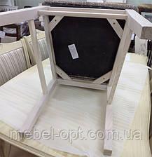 Стул деревянный Алена с мягкой спинкой и сиденьем, цвет дерева и обивки на выбор, фото 3
