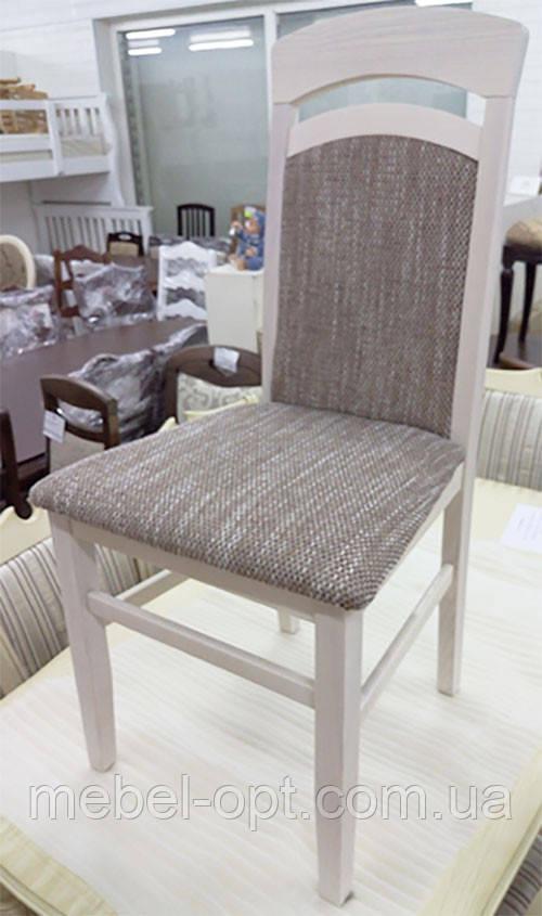 Стул деревянный Алена с мягкой спинкой и сиденьем, цвет дерева и обивки на выбор