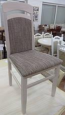 Стул деревянный Алена с мягкой спинкой и сиденьем, цвет дерева и обивки на выбор, фото 2
