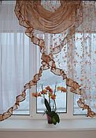 """Кухонная занавеска """"Эмилия"""" на карниз 1.5 м - 2 м Разных цветов."""