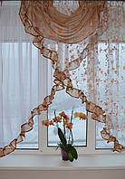 "Кухонная занавеска ""Эмилия"" на карниз 1.5 м - 2 м Разных цветов., фото 1"
