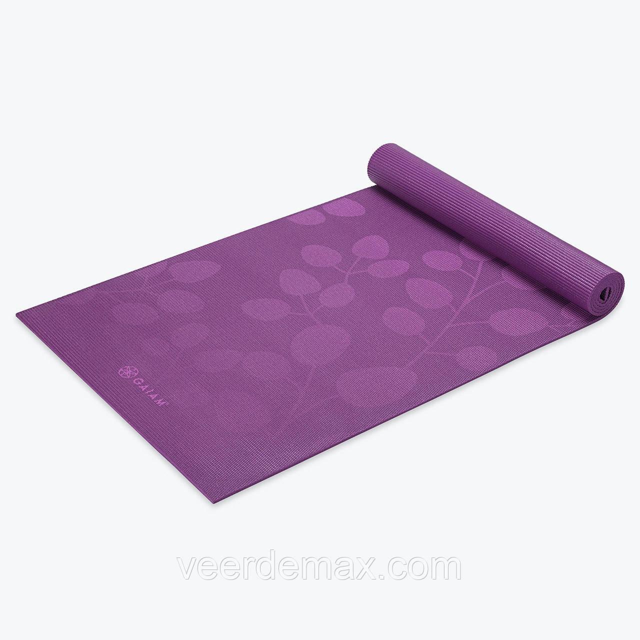 Коврик для йоги PREMIUM VIOLET SPRING YOGA MAT (5мм) американской фирмы Gaiam