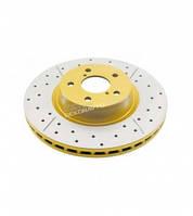 Задний тормозной диск DBA2723X для LC200 , Lexus LX, серия Street X-Gold с насечками и перфорацией