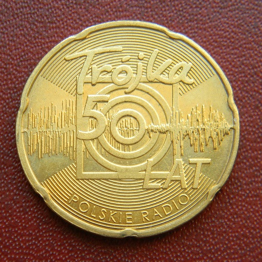 Польша 2 злотых 2012 г. 50 лет Польское радио