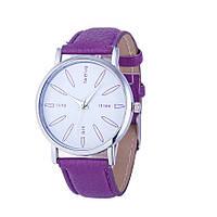 Стильные оригинальные женские часы, фиолетовые