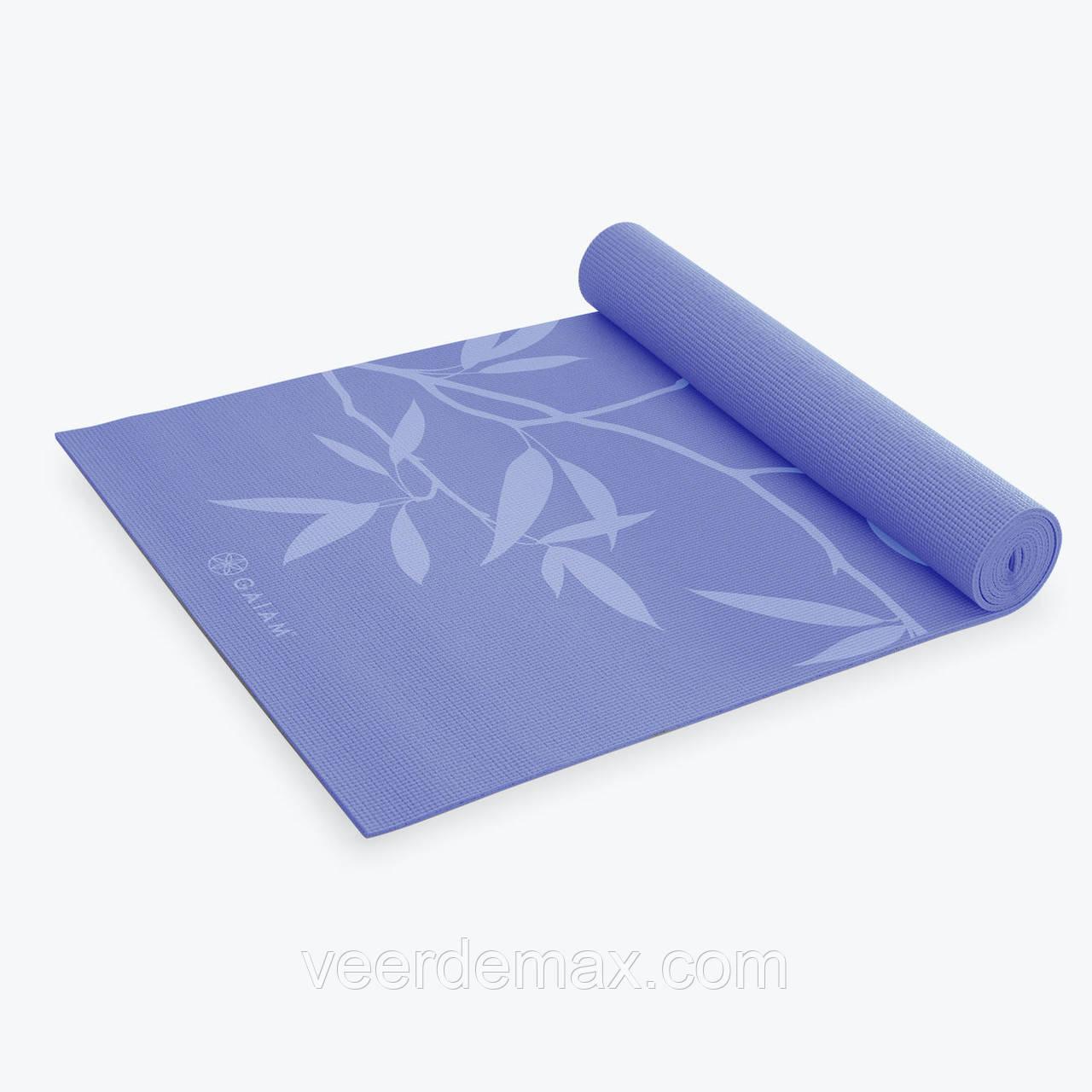 Коврик для йоги PREMIUM ASH LEAVES YOGA MAT (5мм) американской фирмы Gaiam