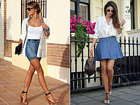 Юбки женские цветные и джинсовые.