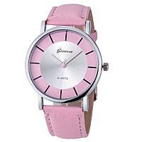 Стильные оригинальные женские часы, розовые